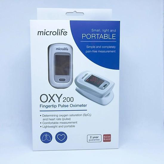 Máy SPO2 OXY200 chính hãng Microlife Thụy Sĩ dùng để đo nhịp tim và nồng độ oxy trong máu