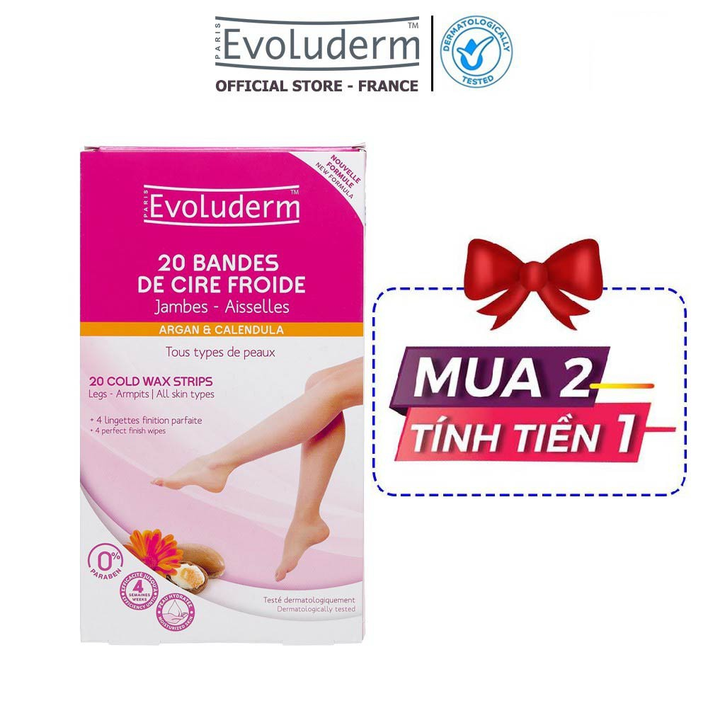 Tẩy lông Evoluderm dạng miếng dành cho chân tay 20 Miếng