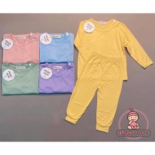 Bộ Dài Tay Cài Vai Chất Thun Lạnh Cho Bé MKM01 💝 Bộ dài tay thu đông cho bé - bộ body cho bé