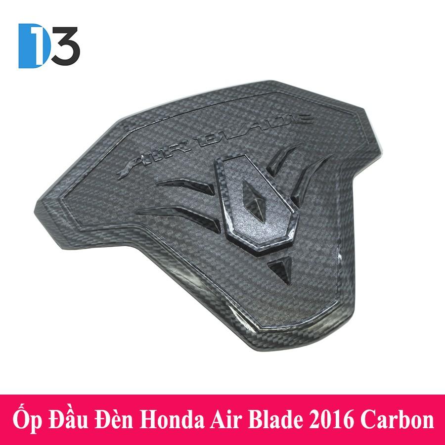 Ốp Đầu Đèn Nhựa Sơn Carbon Dành Cho Honda Air Blade 2016