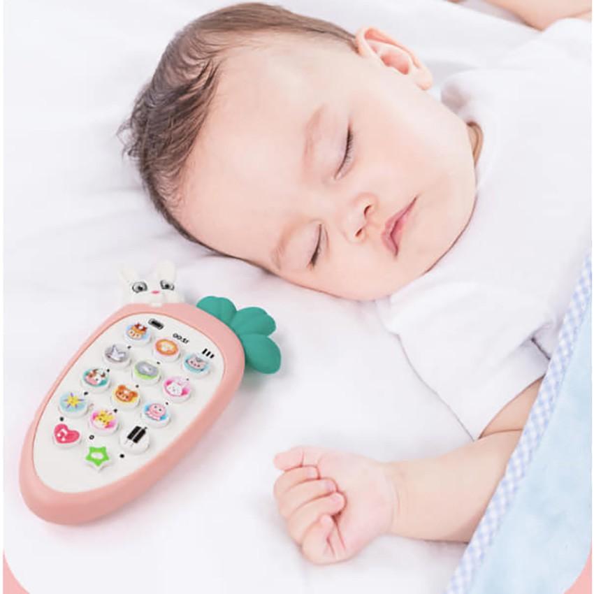 [Tặng Pin- Free ship] Điện thoại đồ chơi cho bé, điện thoại cà rốt siêu đáng yêu