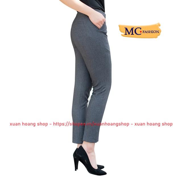 Mặc gì đẹp: Đẹp với Quần Tây Nữ Lưng Cao Âu Công Sở Đẹp, Côn Mc Fashion, Ghi Xám Tàn, Đen, Xanh Tím Than, Chất Vải Co Giãn, Size Đủ Q0279