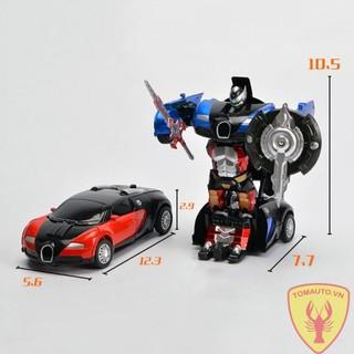 Mô hình ô tô biến hình Transformer Bugatti 1:38 full box 6878A-6