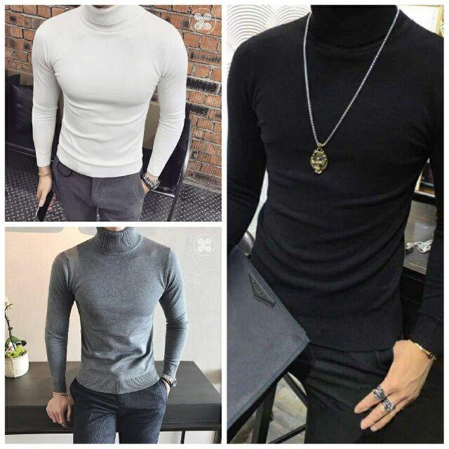 Combo áo len nam cổ lọ kèm 3 đôi tất nam ngắn cổ