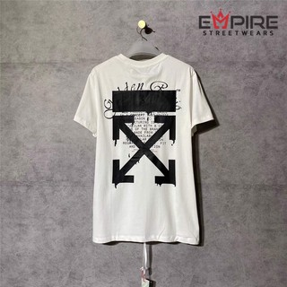 [ Kèm Video SP ] Áo phông DRIPPING ARROWS S/S OVER T-SHIRT OFF WHITE SS2020 WHITE