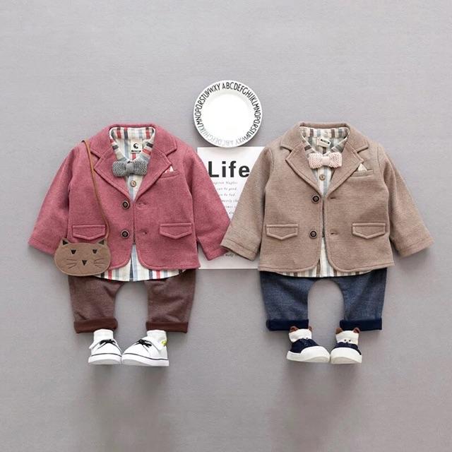 Set vest siêu đẹp cho bé trai diện tết đây ạ gồm sơ mi, quần và áo vest ạ - 2493007 , 767399992 , 322_767399992 , 400000 , Set-vest-sieu-dep-cho-be-trai-dien-tet-day-a-gom-so-mi-quan-va-ao-vest-a-322_767399992 , shopee.vn , Set vest siêu đẹp cho bé trai diện tết đây ạ gồm sơ mi, quần và áo vest ạ