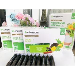Detox giảm cân Programme Minceur Arkopharma Arkofluide 1 2 3 - Pháp 30 ống - Liệu trình 3 bước an toàn thumbnail