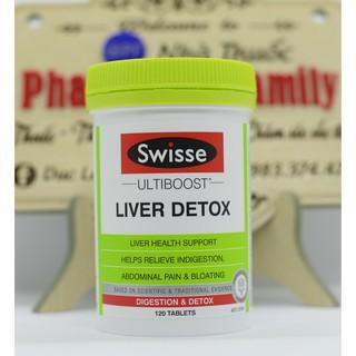 Viên Uống Hỗ Trợ Thải Độc Gan [Úc] Swisse Liver Detox – 120 viên
