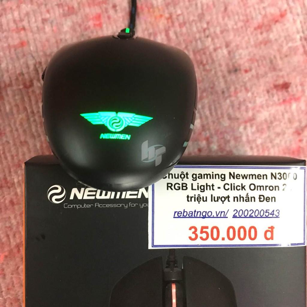 Chuột gaming Newmen N3000 RGB Light - Đen - Click Omron 20 triệu lượt nhấn