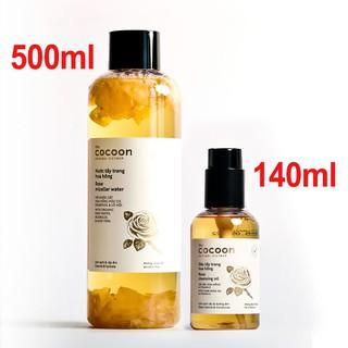 Combo Nước tẩy trang hoa hồng cocoon 500ml + Dầu tẩy trang hoa hồng cocoon 140ml thumbnail