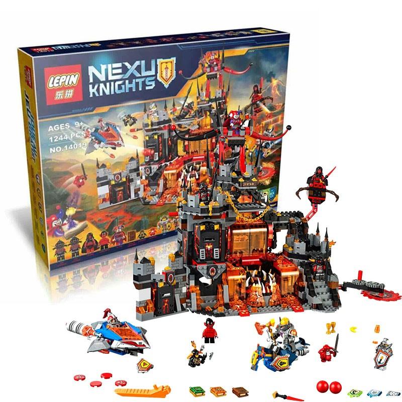 (Tặng 3XH gỗ 30k) Lego Nexu Knights 1.244pcs - Hang ổ nham thạch của chú hề Jestro 14019