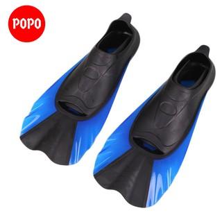 Chân nhái lặn biển POPO-NXANH chất liệu silicone ôm chân chân vịt giúp thoải mái vận động