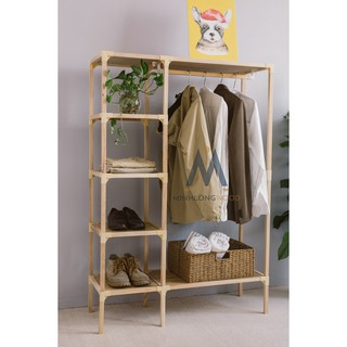 [Big Sale ]Kệ Tủ Treo Quần áo MINHLONGWOOD Gỗ tự nhiên -decor theo phong cách của bạn