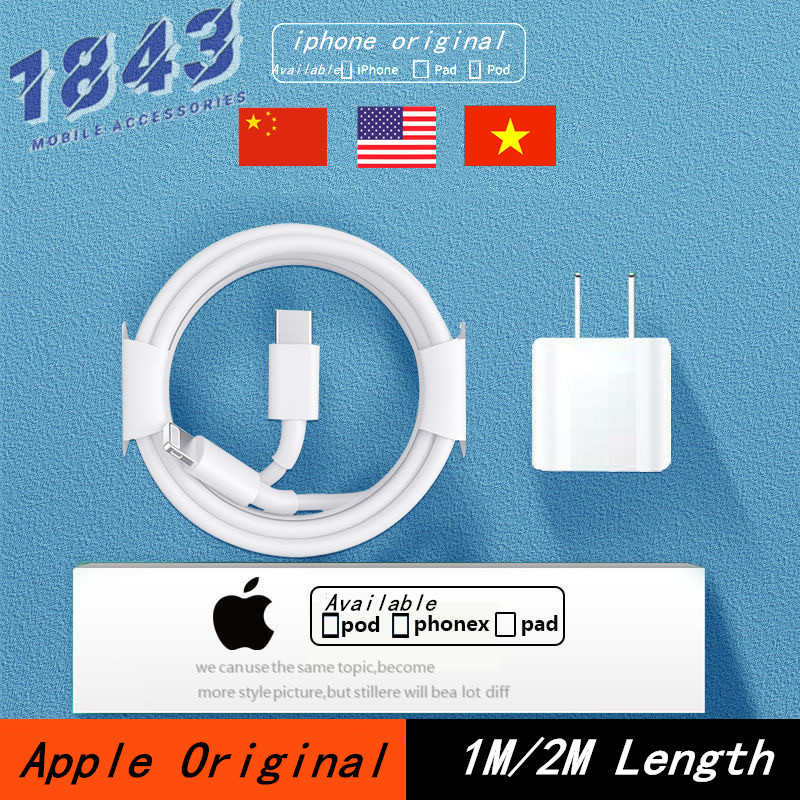 Apple iphone cáp nguyên lightning chính hãng 100% dài 2m 1m có dành cho Apple iPhone/iPad/pod