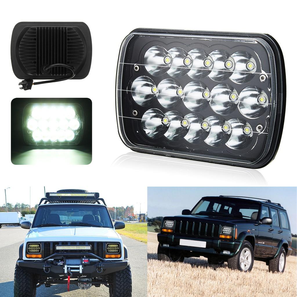 Single 45W LED Headlights Daytime Running Lights Far and Near Light with H4 Plug