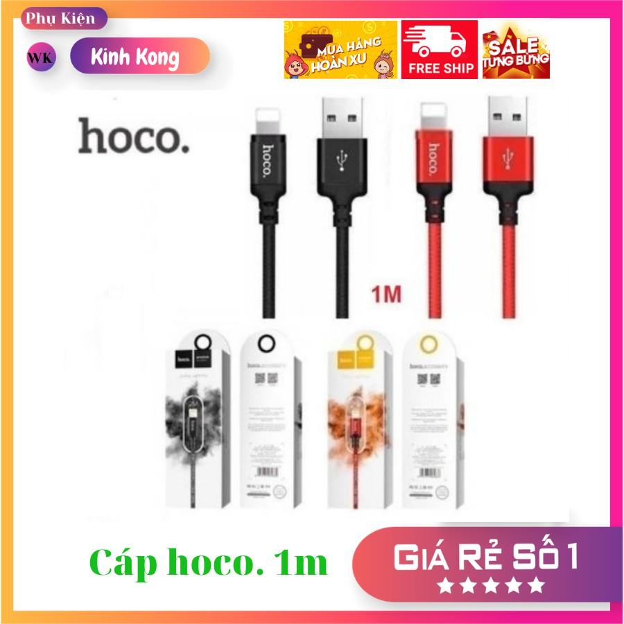 Cáp sạc Hoco X14, dây dù lightning 1m cho iPhone, iPad ,hàng chính hãng