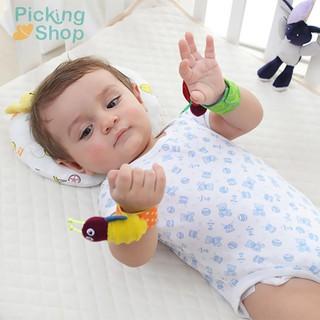 Cartoon Infant Baby Kids Socks Rattle Toys Early Education Wrist Rattles