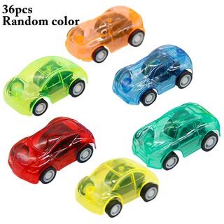 36PCS Pullback Car Set Toy Plastic Mini Car Toy for Kids Boys Girls