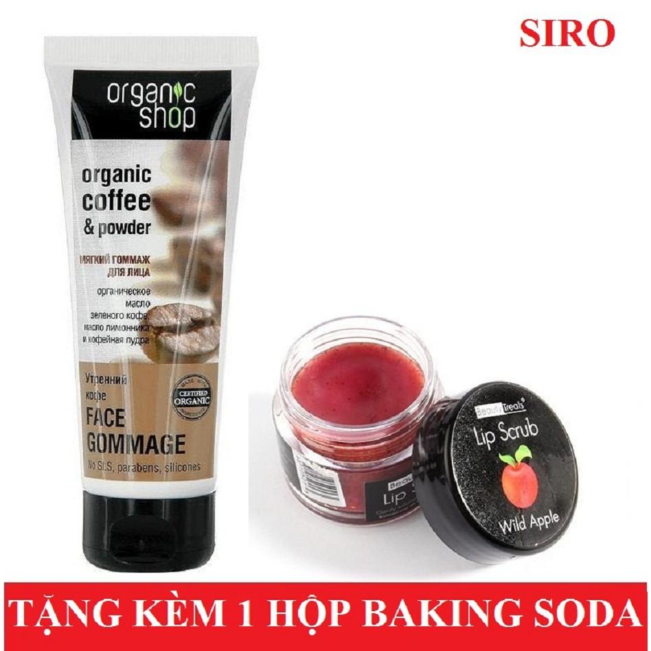 Bộ đôi tẩy da chết mặt Organic Coffee & Powder 75ml + Tẩy da chết môi Beauty Treats Lip Scrub (Táo) - 3358139 , 1207062440 , 322_1207062440 , 140000 , Bo-doi-tay-da-chet-mat-Organic-Coffee-Powder-75ml-Tay-da-chet-moi-Beauty-Treats-Lip-Scrub-Tao-322_1207062440 , shopee.vn , Bộ đôi tẩy da chết mặt Organic Coffee & Powder 75ml + Tẩy da chết môi Beauty T