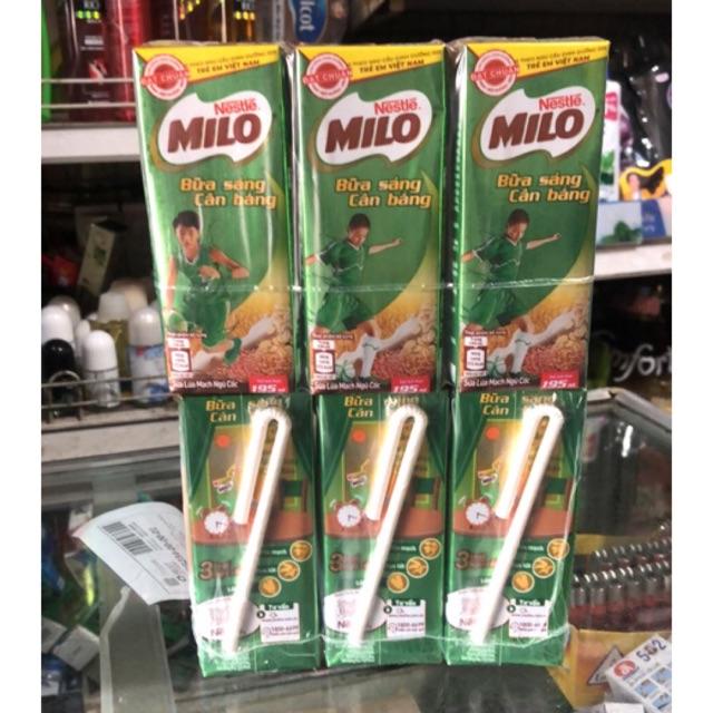 Sữa Lúa Mạch ngũ cốc Milo vỉ (3 x 1