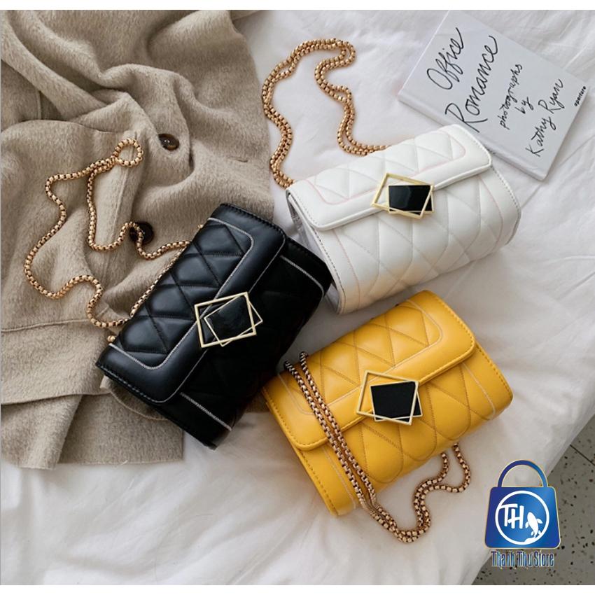Túi đeo chéo trần trám khóa kính nghiêng thời trang BH 403