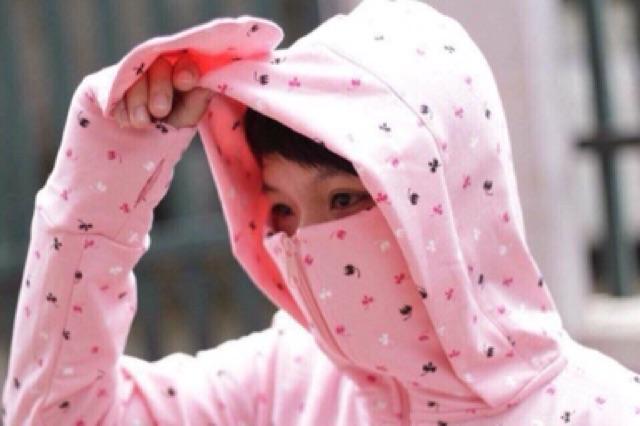 Áo chống nắng nữ chất liệu da cá xịn