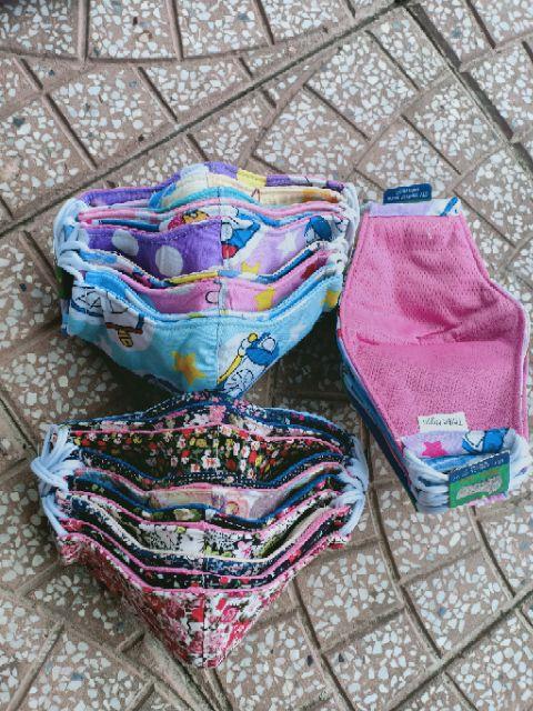khẩu trang cotton đủ size đủ màu cho mẹ và bé mẫu bông