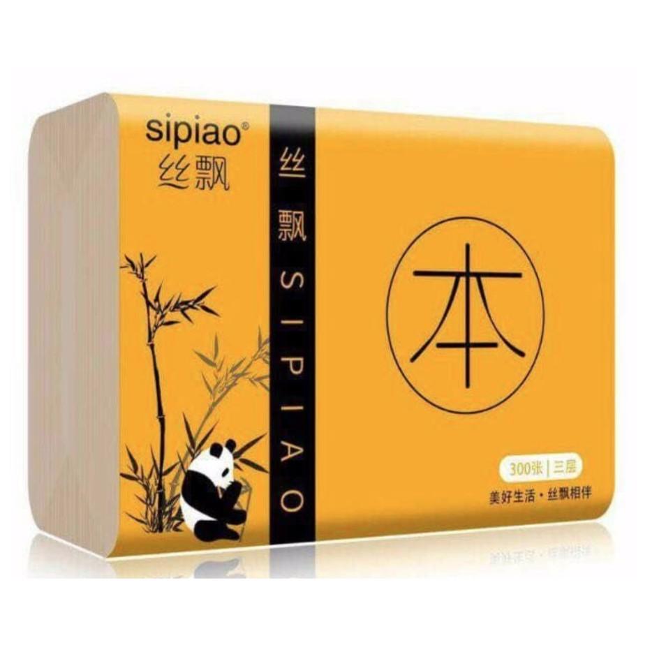 1 thùng 30 gói mỗi gói 300 tờ giấy ăn Gấu trúc Sipiao cỡ vừa siêu dai