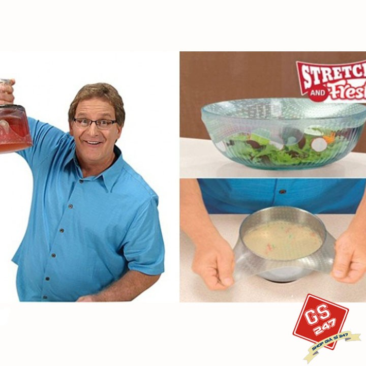 Màng bọc thực phẩm silicon cao cấp Stretch and Fresh - 3342610 , 977253744 , 322_977253744 , 49000 , Mang-boc-thuc-pham-silicon-cao-cap-Stretch-and-Fresh-322_977253744 , shopee.vn , Màng bọc thực phẩm silicon cao cấp Stretch and Fresh