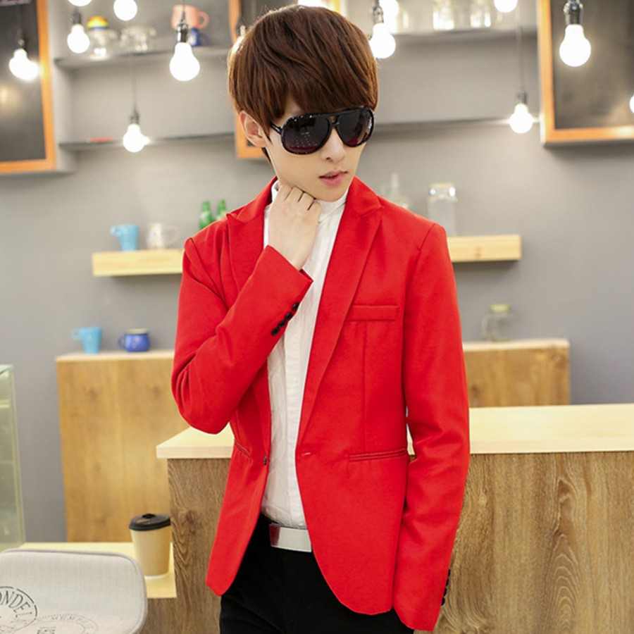 [Giá Hạt Dẻ] Thanh lí áo Vest Nam form ôm body màu Đỏ