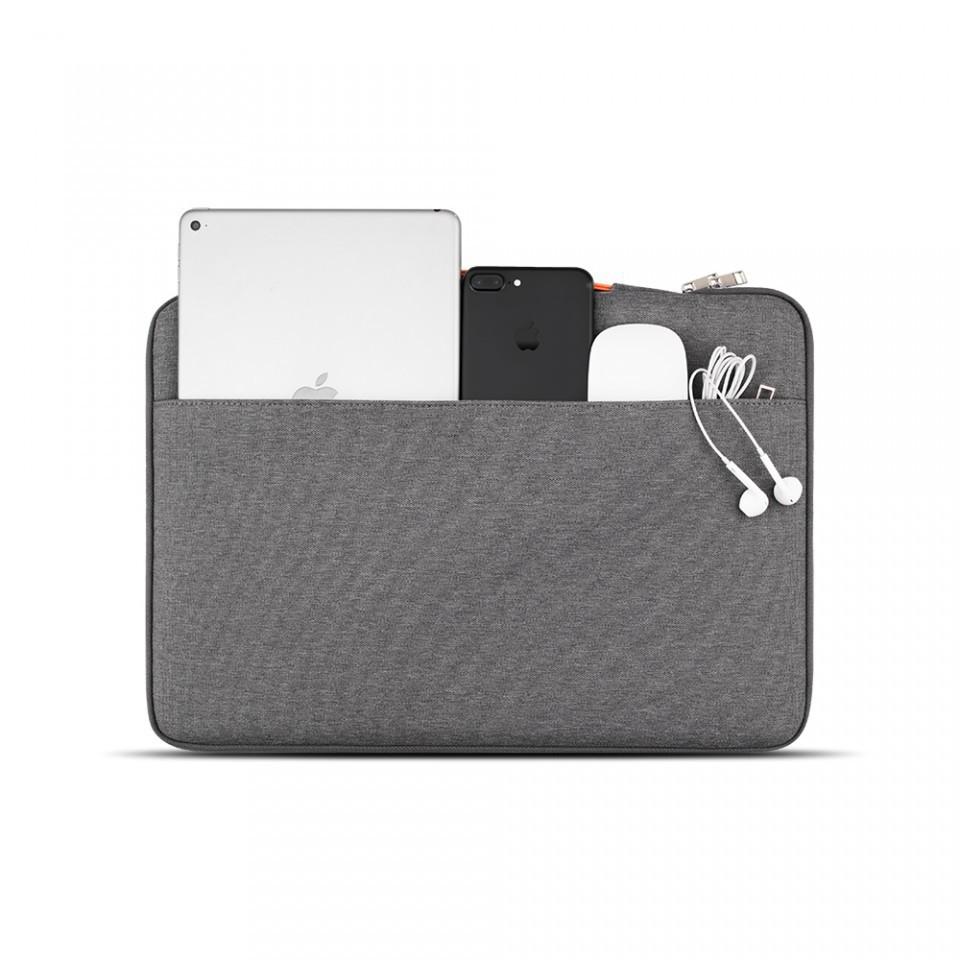 Túi Xách Chống Sốc Macbook - Laptop Jcpal Nylon - Xám