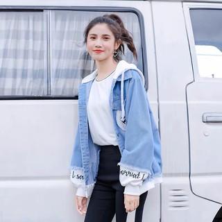 Áo khoác jean nam nữ có mũ form rộng ngôi sao Star tinh tú Hàn Quốc loại 1 cao cấp KT-CHI42