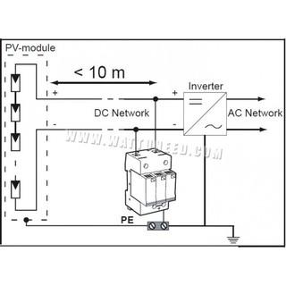 Chống sét 1000VDC 40KA 2P Thiết bị chống sét lan truyền cho hệ ...