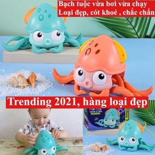 [Trending 2021 Hàng loại đẹp]Bạch tuộc đồ chơi vừa bơi vừa chạy,đồ chơi bạch tuộc bơi lội vặn cót cho bé.