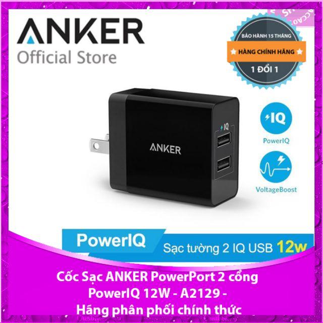 Cốc Sạc ANKER PowerPort 2 Lite 2 cổng PowerIQ 12W - A2129 - Hãng phân phối chính thức - 3465556 , 949728930 , 322_949728930 , 220000 , Coc-Sac-ANKER-PowerPort-2-Lite-2-cong-PowerIQ-12W-A2129-Hang-phan-phoi-chinh-thuc-322_949728930 , shopee.vn , Cốc Sạc ANKER PowerPort 2 Lite 2 cổng PowerIQ 12W - A2129 - Hãng phân phối chính thức