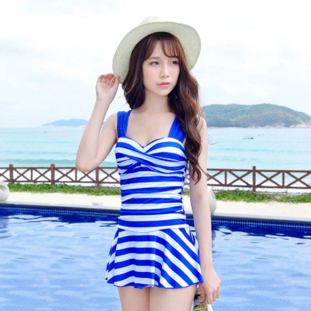 Bikini đi biển, đồ đi biển, set áo tắm 2 dây đi biển