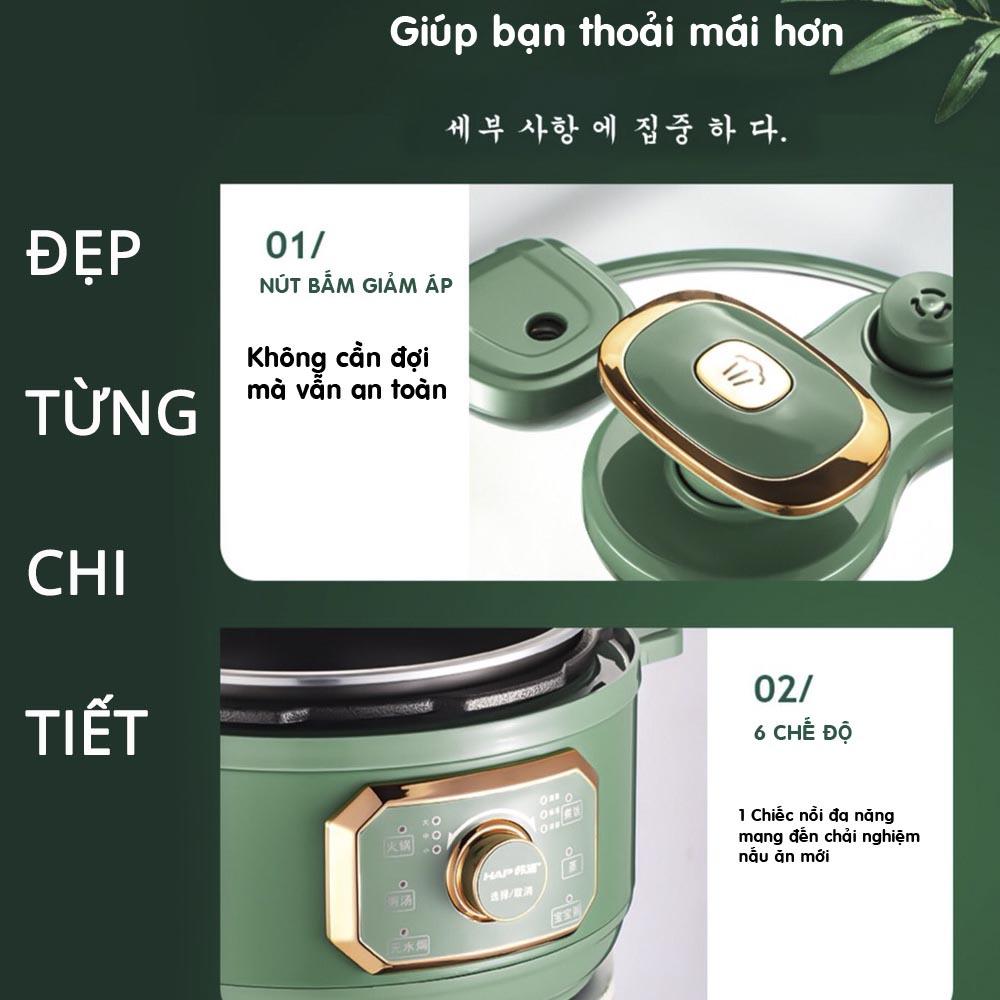 Nồi Áp Suất Đa Năng 3 Lít Nineshield KB-618 Hàng Chính Hãng Phiên Bản Tiếng Việt, Bảo Hành 12 Tháng