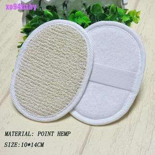 [xo94bsby]1 Natural Loofah Luffa Sponge Face Body Bath Shower Spa Exfoliator Scrubber Pad