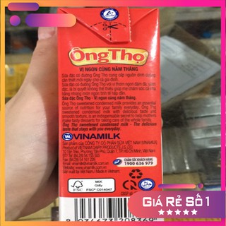 Sữa Đặc Có Đường Ông Thọ Đỏ Hộp Giấy 380g
