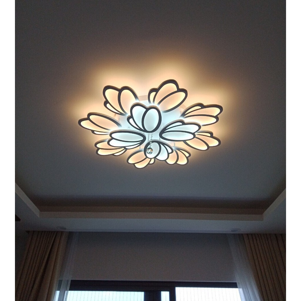 Đèn Led ốp Trần Trang Trí Phòng Khách,Có Điều Khiển 3 Chế Độ Sáng,Bảo Hành 2 Năm