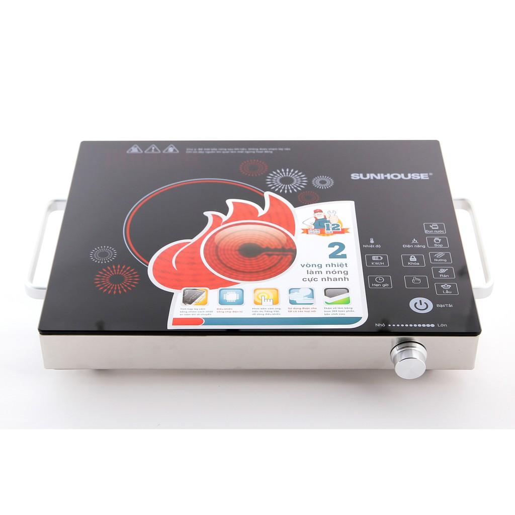 Bếp hồng ngoại cảm ứng Sunhouse SHD6018 (Đen)