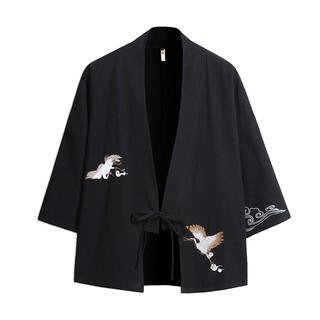 Áo Haori thêu hạc – Kimono cách tân thêu hạc