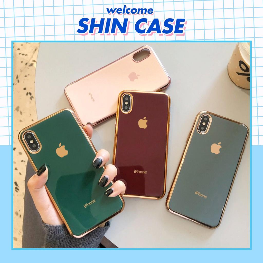 Ốp lưng iphone Logo Táo Viền Mạ Vàng 6/6plus/6s/6s plus/6/7/7plus/8/8plus/x/xs/xs max/11/11 pro/11 promax - Shin Case