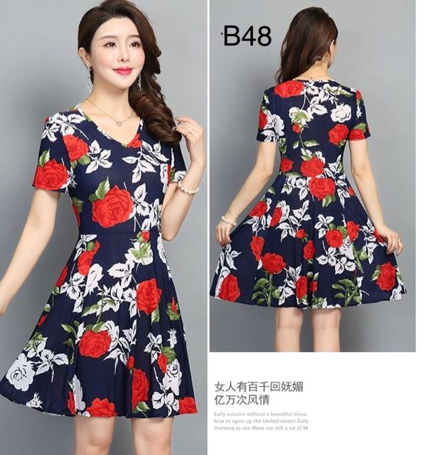 Đầm trung niên big size váy đầm trung niên sang trọng váy đầm cho mẹ