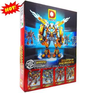 Bộ Lego Lắp Ghép Ninjago Iron Man DLP903. Gồm 346 Chi Tiết. Lego Ninjago Lắp Ráp Đồ Chơi Cho Bé