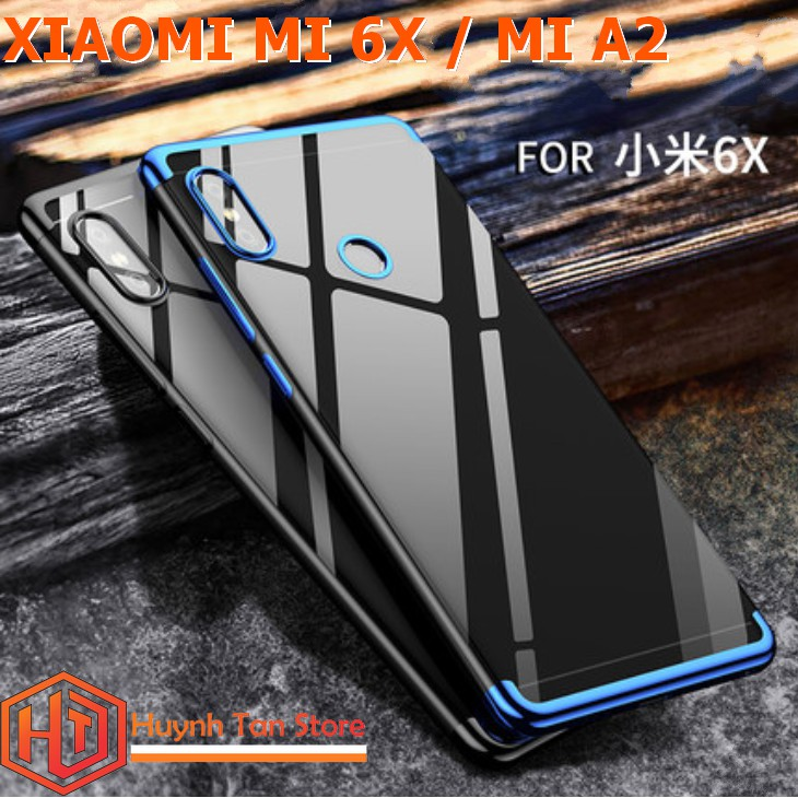 Xiaomi Mi 6X / Mi A2 _ Ốp dẻo trong viền màu cụm cao cấp