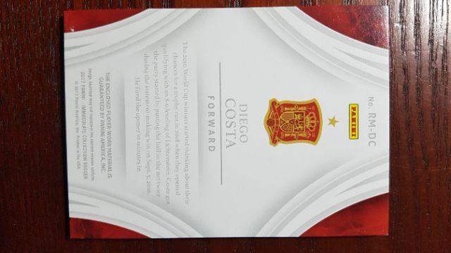 Diego Costa Panini patch thẻ bóng đá