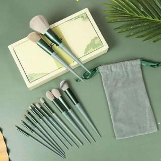 [ bộ 13 cây ] Cọ trang điểm Fix Hồng 13 Cây,bộ Cọ makeup Trang Điểm cá nhân kèm túi đựng HT 2