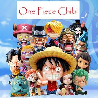 Mô Hình One Piece Chibi - Mô Hình Băng Mũ Rơm Luffy, Zoro, Usopp, Jinbei... thumbnail
