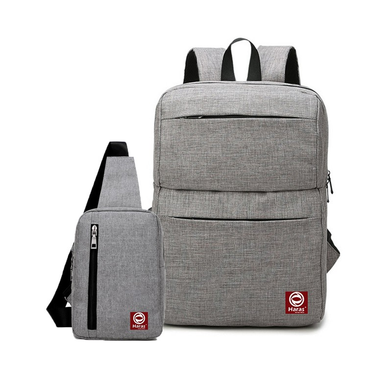 [ FreeShip]- Combo Ba Lô Laptop Cao Cấp HRS200+ Túi IPAD Thời Trang HARAS HRS147